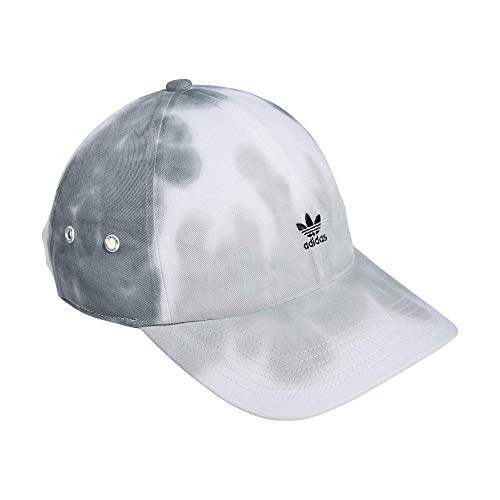 adidas Originals Women's Mini Logo Relaxed Adjustable Cap, Grey Wash, One Size