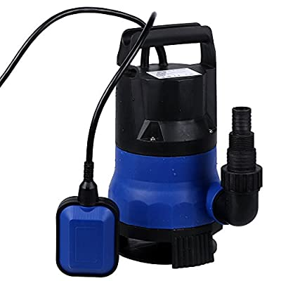 1/2 HP Submersible Pump 110V/60Hz Clean / Dirty Submersible Water Sump Pump Flood Drain Garden Pond Swimming Pool Pump