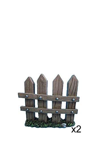 Hi-Line Gift Ltd. Fairy Garden Fence Figurines, Large, Set of 2