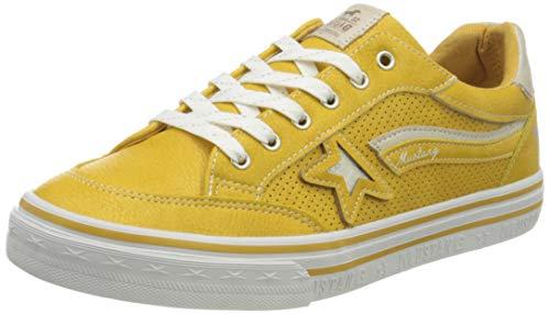 MUSTANG Jungen Mädchen 5056-301 Sneaker, Gelb (Gelb 6), 34 EU
