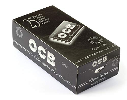 OCB noir premium double Papier à rouler Cour Boîte 25 paquets doubles