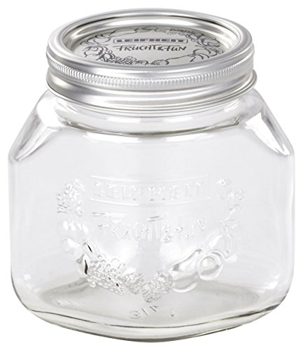 Leifheit 36203 3-Cup Preserve Jar, 3/4-Liter, Set of 6