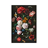 Flowers Canvas Prints Peony Ranunculus Poppies Carnation Nature Floral Wall Art Posters Decor for Home Office(16x20 Inches, Unframed)