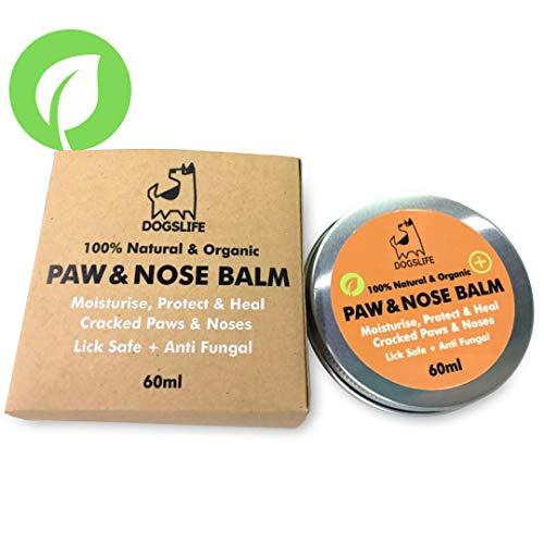 Baume bio pour pattes et nez pour chien | Balme pour pattes et nez 100% naturel pour réparer les pattes fissurées et les démangeaisons | Crème anti-fongique