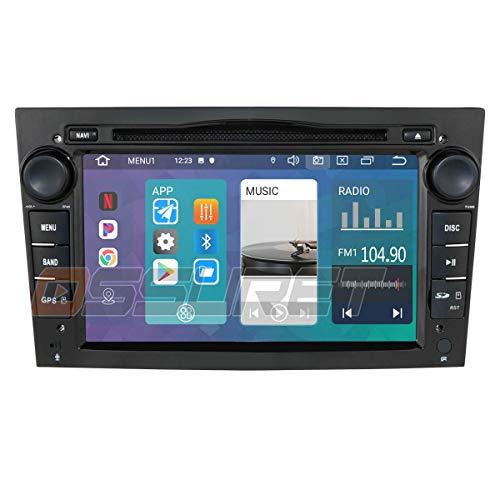 Android 10 Navegación GPS para automóvil Bluetooth Vehículo Radio 1080P Reproductor de video estéreo compatible con Opel Antara Combo Meriva Signum Compatible con Android e IOS Mirror-link Control d