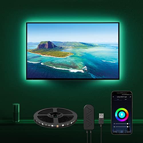 LE Smart LED Strip 2M, TV Hintergrundbeleuchtung, Wifi RGB LED Streifen, Wlan USB LED Band, Superhell Selbstklebend Lichtband Fernseher Beleuchtung[nur 2.4GHz],Kompatibel mit Alexa, App, Google Home