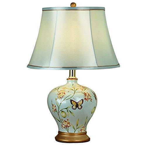 Lampade da tavolo Camera da Letto Comodino Stile Americano Creativa Semplice Camera Calda Romantica Luce Calda Lampada in Ceramica abat-Jour