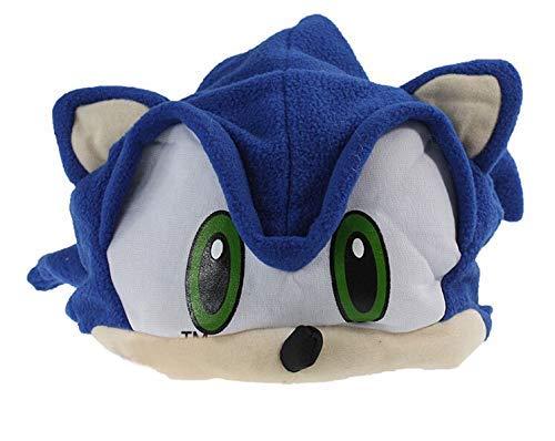 Trajes de Sonic The Hedgehog paño Grueso y Suave del Sombrero de Cosplay Juguetes Sonic X FS Animado Casquillo de la Felpa Beanie Sonic The Hedgehog 2pcs for niños Hijos Adolescentes WTZ012