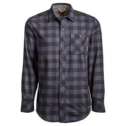Timberland PRO Herren Woodfort Mid-Weight Flannel Shirt (Big/Tall) Work Utility Hemd, Navy Buffalo Check, Large Hoch