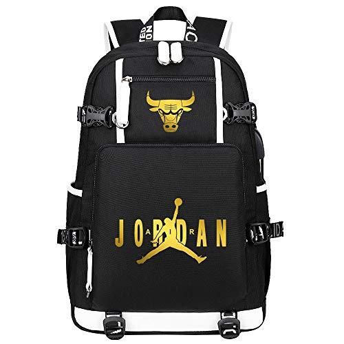 Liuying Michael Jordan 23 Rucksack Kindertasche Jungen Mädchen Schultasche Teen Laptoptasche College Bag Lunch Bag Männer Lässig Wandern Reiserucksack,10-47cmX17cmX30cm
