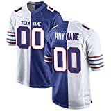 Custom Football Team Jersey Color-Blocked Personalized Stitched Jerseys for Men/Women/Youths,Gift Fans