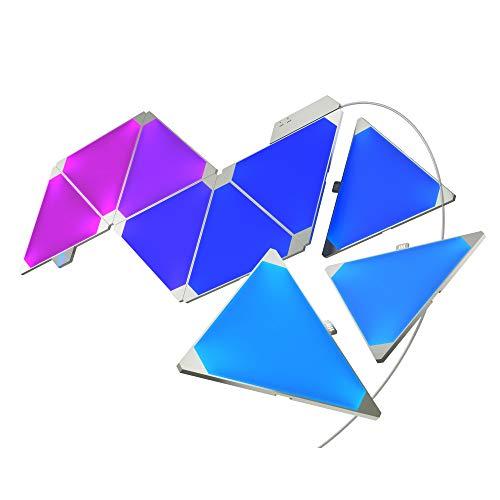 Nanoleaf Aurora Rhythm Smarter Kit 9 Painéis de Led Inteligentes, Multicoloridos, Bivolt