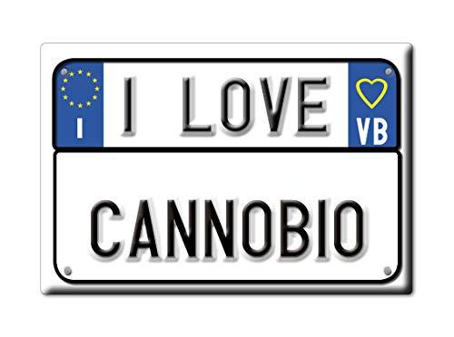 Enjoymagnets CANNOBIO CALAMITA Magnete Piemonte (VB) Italia Fridge Magnet Souvenir I Love (VAR. Targa)