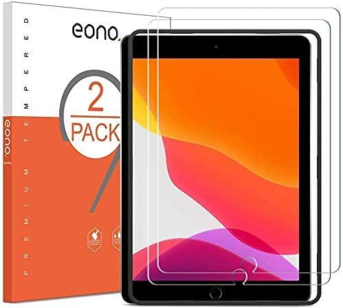 Amazon Brand-Eono [2 Stück] Schutzfolie kompitabel mit iPad 10.2 (iPad 9/8. Generation/iPad 7. Generation) / iPad Air 3 (10.5 Zoll) / iPad Pro 10.5, 2.5D,9H,Anti-Kratzen,Bläschenfrei