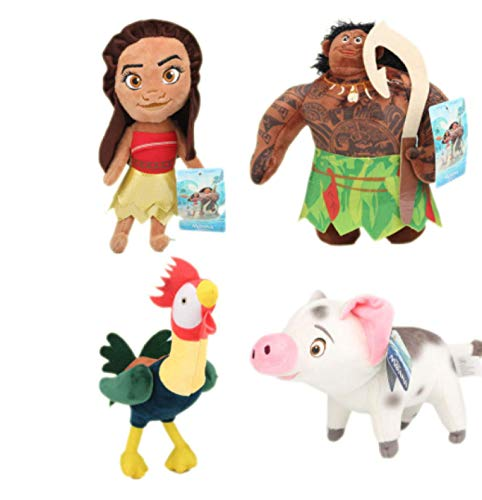 qinhuang Moana Puppe Prinzessin Plüschtier Moana Maui Huhn Schwein Schwein Plüsch Puppe Geburtstag Kinder 20Cm