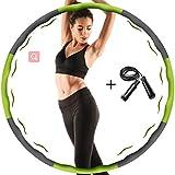 Aoweika Hula Hoop per Adulti e Bambini, Pieghevole e Regolabile, ponderato per Esercizi fisici Hoola Hoop e Corda per Saltare per Perdita di Peso