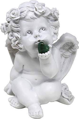 UDIG Süße Engel mit Edelsteinherzen Schutzengel mit Edelstein 16 cm (Aventurin)