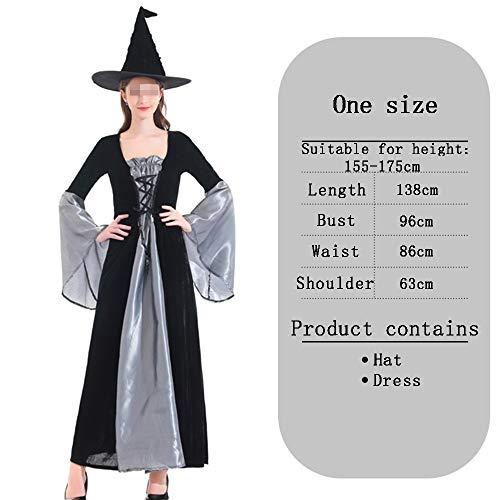 HALLOWEEN-COSTUMES Zilveren heks Fancy Jurk Voor Volwassenen Elegante Heks Cosplay Masquerade