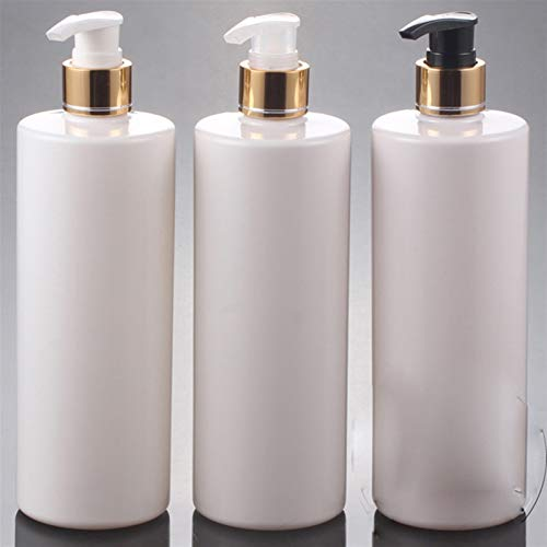 Botella contenedor 20pcs / lot, botella de bomba de loción de mascotas de 500 ml, envase cosmético de plástico negro, Subbotellador de champú vacío, botella de aceite esencial Artículos de viaje