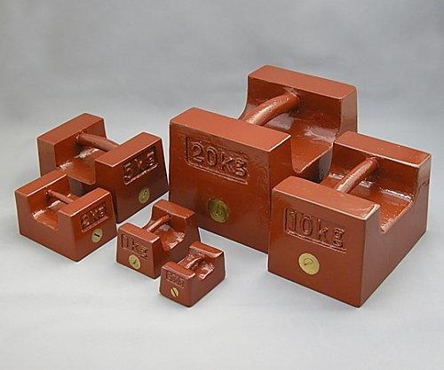 村上衡器製作所 鋳鉄製まくら型分銅 M2級 20kg 61-3514-13