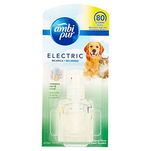 Ambi Pur Eliminatore Odore di Animali per Diffusore Elettrico, Ricarica da 21.5ml