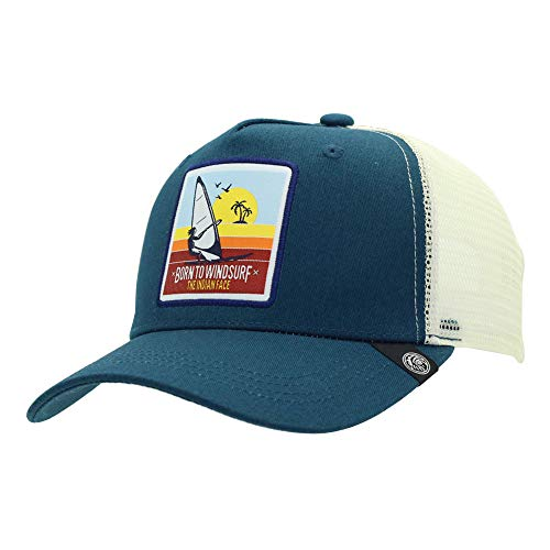 The Indian Face Windsurf Gorra Born to Windsurf Hombre y Mujer, Color Azul y Blanca