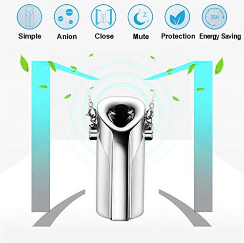 HUA JIE Mini-Luftreiniger,Tragbarer negativer Ionen-Luftreiniger, Luftreiniger mit Filter, wiederaufladbarer USB, Reinigung von Pollen, Asche, Rauch aus zweiter Hand, Schimmel, Formaldehyd PM2.5