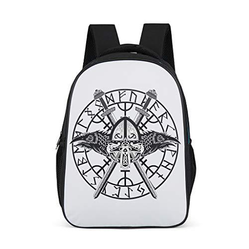 O5KFD & 8 Man Viking Vintage Daypack, Schoolrugzak Kinderrugzak - rugzak Vrouwen Laptop schooltas omhangtas