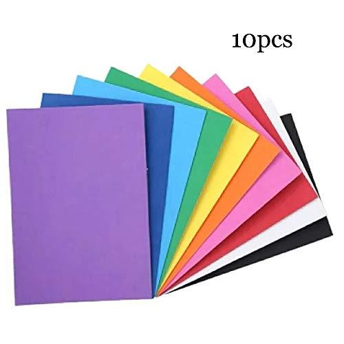 LINVINC 10 Blatt A4 Klebefolie - Normal Dekofolie Farbige Bastelfolie Vinyl Aufkleber für DIY Handwerk Scrapbooking,20x30cm,(Mischfarben )