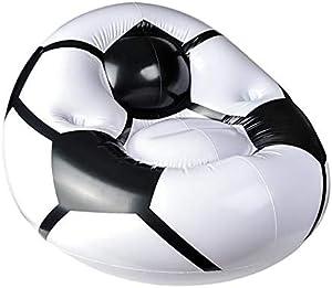 Neliblu Sitzsack mit Fußball-Motiv, aufblasbar, einfach aufzublasen, ablassen und von Raum zu Raum zu Raum bewegen