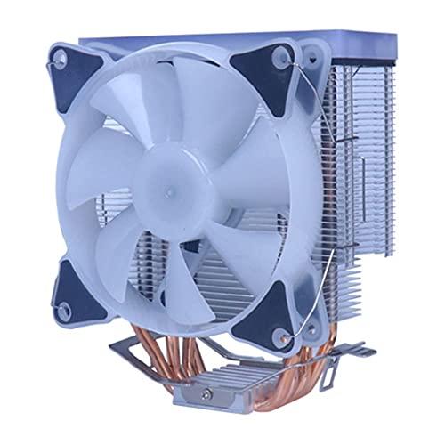 Abcidubxc Refrigerador de CPU multicolor RGB con 4 tubos térmicos para CPU de 12 V, 4 pines, PWM, refrigeración de aire para Intel/AMD/LGA 775 RGB