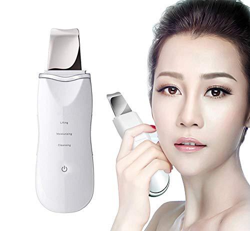 SVIVI facial Skin scrubber portable pour enlever Blackheads peau scrubber peeling rides removal machine Cleaner facial beauté dispositif,White