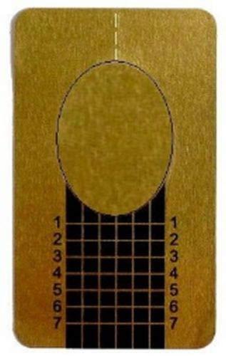 Square Goldschablonen. Modellageschablonen Fingernagel Verlängerungsschablonen (100 Schablonen)