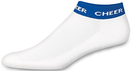 Chassé Girls' In-Stock Low Anklet With Cheer Stripe Socks - Royal Blue Youth