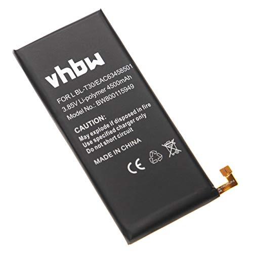 vhbw Akku kompatibel mit LG M320F, M320N, M320TV, M322, M327, MLV7N, SP320, US601 Handy Smartphone Handy (4500mAh, 3,85V, Li-Polymer)