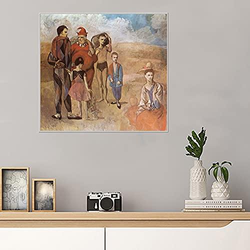Familia de acróbatas Pablo Picassocomposición cuadros decoracionlienzos decorativos cuadros decoracion dormitorios decoración pared lienzos decorativo 30x33cm 12 'x13' Sin marco