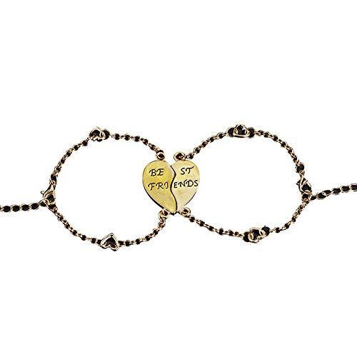 Goodtimes28 Magisches Armband, 2 Stück, Freunde, Herzgelenk, Freundschaftsschmuck, Geschenk goldfarben