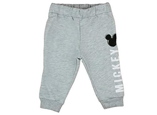 Baby-Hose-Disney Bequeme Baby Mickey Jogginghose Grau Junge Freizeithose/Spielhose, Größe: 98