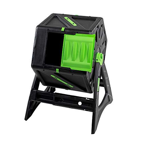 UPP Trommel-Komposter 105L | Roll-Kompostierer | Composter | interne Belüftung | Sicher vor Ungeziefer | Schnellkomposter