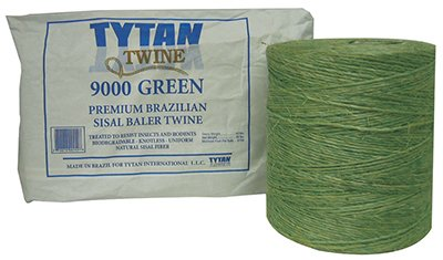 Tytan International SBT72GRTY Premium Brazilian Sisal Baler Twine - 7.200 ft.44; Green