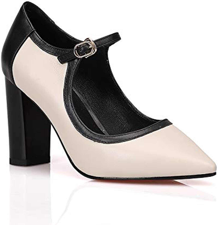 HOESCZS 2019 Ins heiße Art Art Art High Heels Elegante Echtleder Frauen Datum Schuhe Partei Spitze Spitze Mary Jane Sandalen Pumps, B07PCN3HZG  Abholung in der Boutique 9845f1