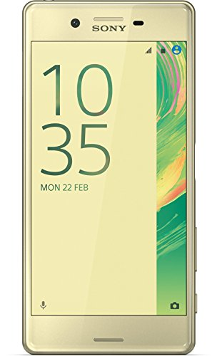 Sony Xperia X Smartphone (5 Zoll (12,7 cm) Touch-Bildschirm, 32GB interner Speicher, Android 6.0) Lime Gold