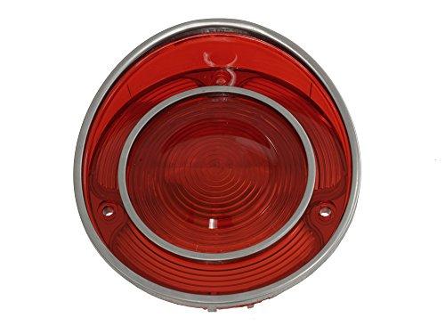 1971L-1973 Corvette Tail Lamp Lens All Red