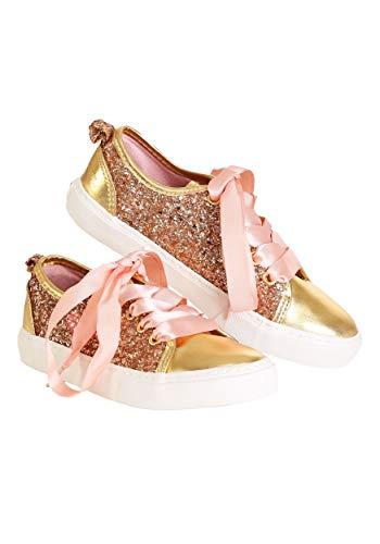 Ground Up Wonder Woman Peach Girls Sneakers - 2