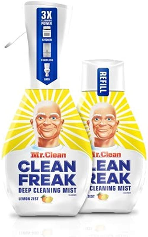 Mr Clean Freak Deep Cleaning Mist Multi Surface Spray Lemon Zest Bundle 1 Starter 1 Refill