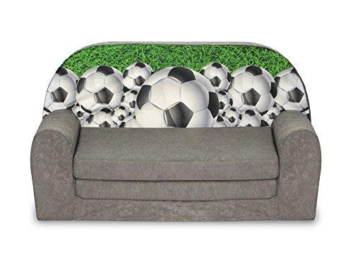 FORTISLINE Kindersofa Mini zum Aufklappen Football 3 W386_40