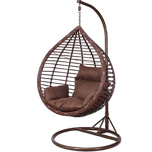 Silla de columpio de interior, sillas de cubierta de muebles al aire libre, silla colgante de lágrima con soporte de café
