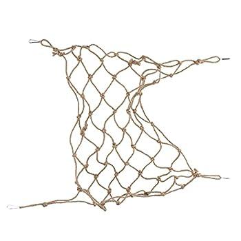 Zopsc-1 Filet d'escalade pour Animaux de Compagnie, échelle de Corde d'escalade pour Oiseaux Solide avec Quatre Crochets Fixes pour perroquets pour Hamsters(L)