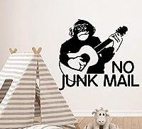ウォールステッカー音楽モンキーギターウォールステッカー装飾ステッカー家の装飾家の装飾リビングルーム寝室の壁画28Cmx31Cm