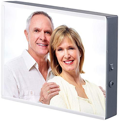 infactory Foto Leuchtkasten: LED-Leuchtkasten für individuelle Bilder auf Folie und Papier, DIN A4 (Leuchtkasten Fotografie)